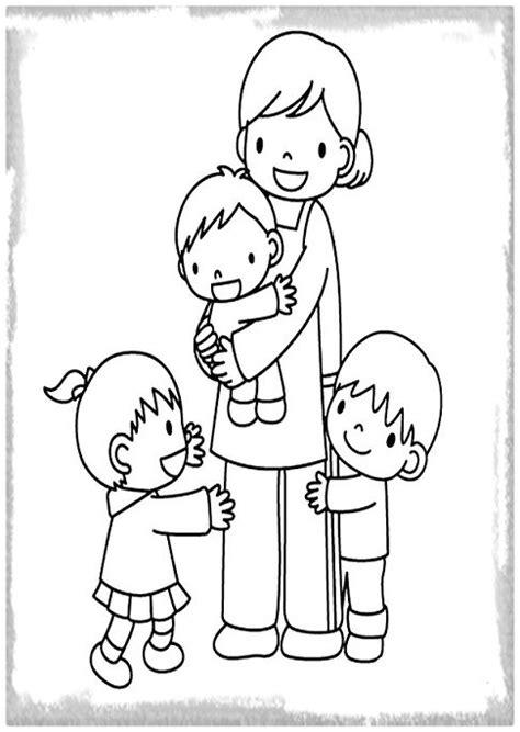 imagenes para pintar la familia dibujos de familia para pintar archivos imagenes de familia