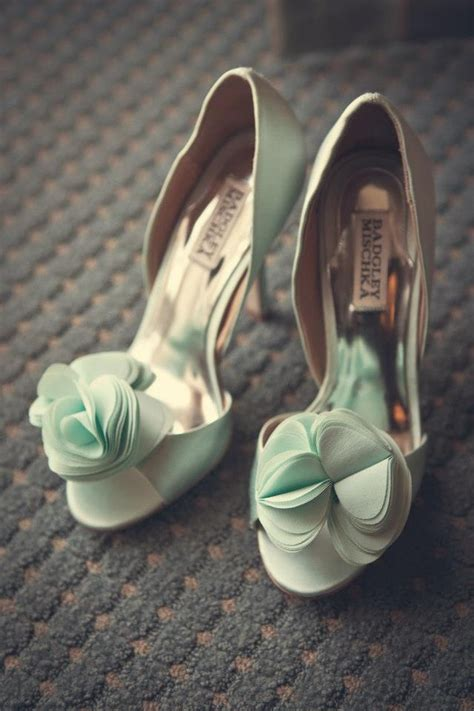 mint green wedding shoes badgley mischka sea green mint wedding shoes