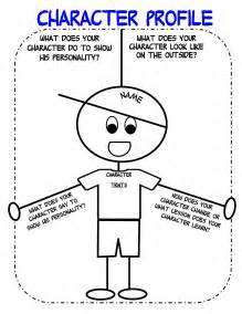 drama character profile template graphic organizers for personal narratives scholastic