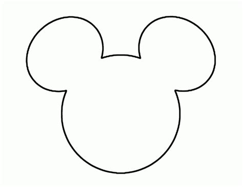 coloring pages of mickey mouse face mickey mouse face coloring pages coloring home