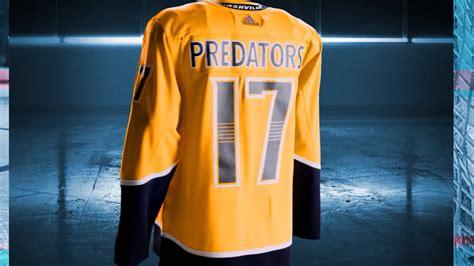 Nashville Predators Giveaway Schedule - nhl adidas unveil new nashville predators home jersey wztv