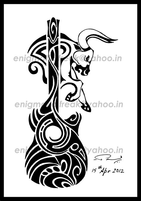 music tribal tattoos taurus tribal by enigmatic freak on