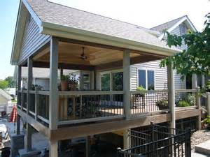 Covered Deck Ideas Covered Deck Since Was At Pool Level Structural Deck