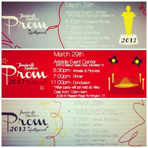 prom ticket designs party invitations ideas