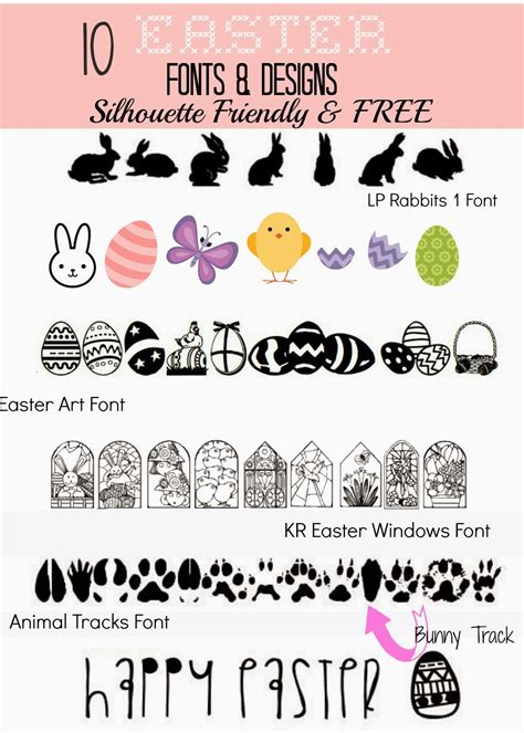printable easter fonts 10 silhouette friendly free easter fonts and designs