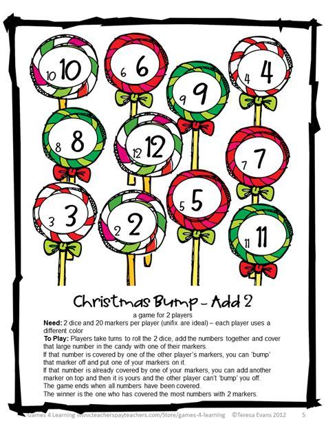 printable christmas brain games alternative games christmas math games