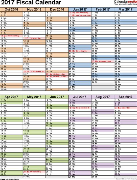 fiscal year calendar template fiscal calendars 2017 as free printable pdf templates