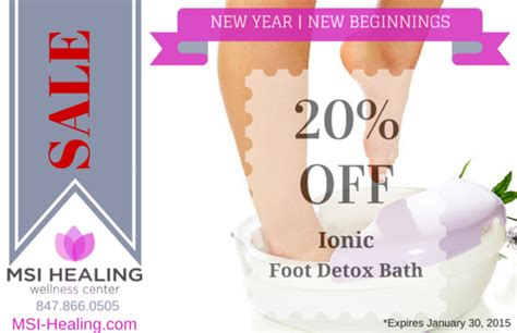 Ionic Foot Detox Poster by Detox For The New Yearmsi Healing