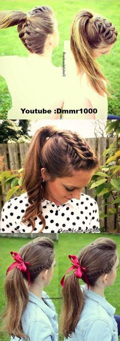how to do lagatha braids braided ponytail ideas 40 cute ponytails with braids
