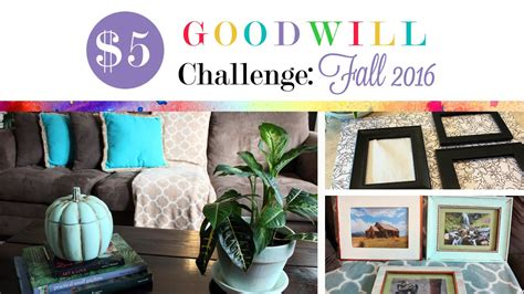 goodwill home decor 5 goodwill challenge fall 2016 diy home decor youtube