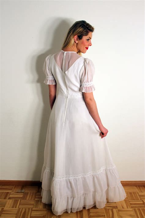 Brautkleider 70er by Vintage 70er Jahre Brautkleid Quot Quot Oma Klara