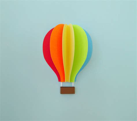 How To Make Paper Air Balloons - air balloon wall decal paper wall wall decor 3d