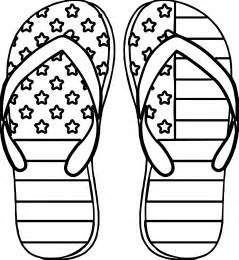 colored pages 4th july slipper coloring page wecoloringpage