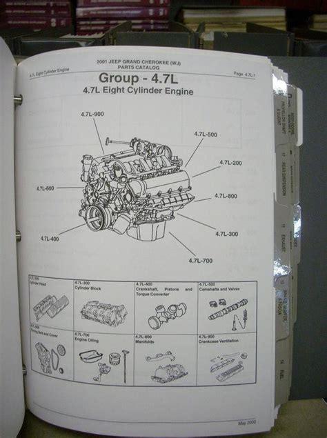 Jeep Dealer Parts Catalog Sell 2001 Jeep Grand Dealer Dealership Parts Book