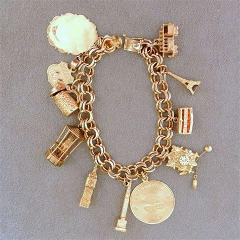 Charm Gold 17 best ideas about gold charm bracelets on