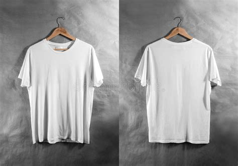 T Shirt Kaos Wood blank white t shirt front back side view hanger design