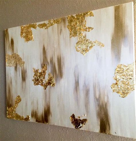Gold Leafing Paint by Painted Canvas With Gold Leaf