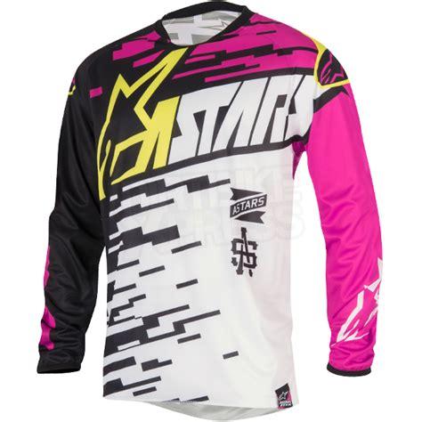 pink motocross jersey 2016 alpinestars racer braap jersey white pink black