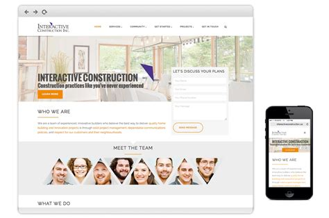 home design interactive website home dyggz web solutions for construction industries