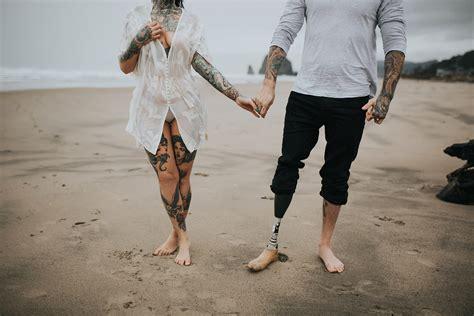 tattoo couple on beach heidi james cannon beach or myrtle moss