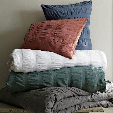 seersucker comforter seersucker duvet shams west elm