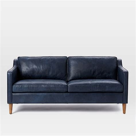 elm hamilton leather sofa hamilton leather sofa 68 quot elm