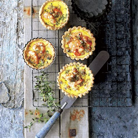 country homes and interiors recipes prawn and cockle tartlets recipe ideal home