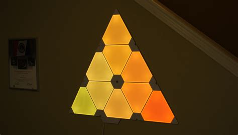 Light Wall Colors by Smart Art The Nanoleaf Aurora Triangular Lighting System