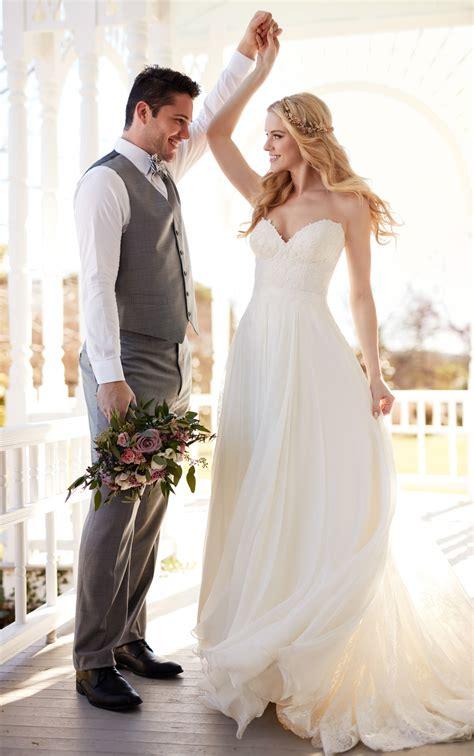 wedding separates silk chiffon beach wedding dress