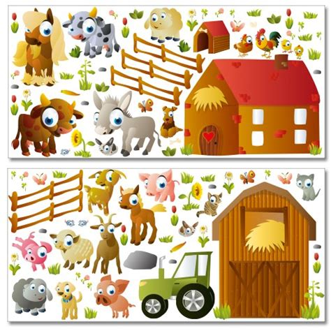 Wandtattoo Kinderzimmer Bauernhof by Wandsticker Mega Set Bauernhof