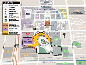 University Of Phoenix Stadium Parking Map by University Of Phoenix Stadium Parking Map