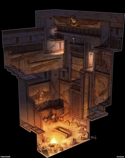 pit room egypt pit room characters art lara croft tomb raider