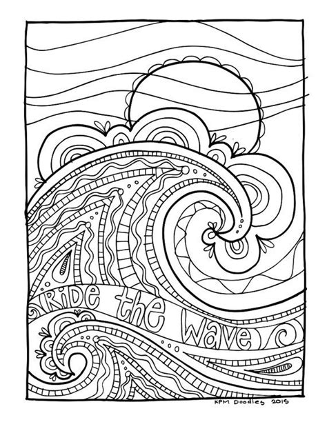 Kpm Doodles Coloring Page Wave Coloring Pages Coloring