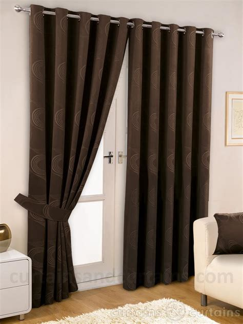 Brown Curtains For Bedroom Chocolate Brown Thermal Lined Eyelet Curtain Curtains