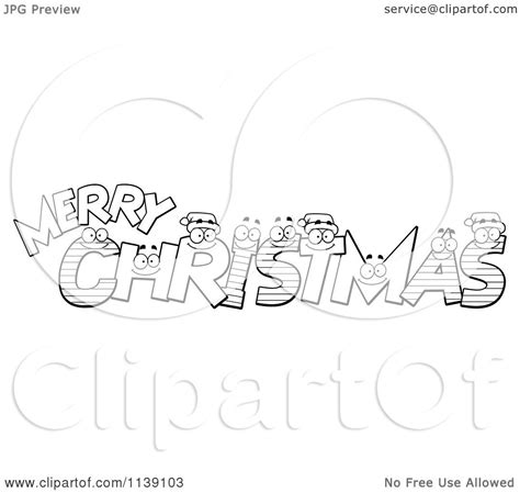 merry christmas letters coloring pages merry christmas vector clipart 85