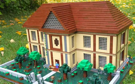 lego minecraft herobrine s mansion