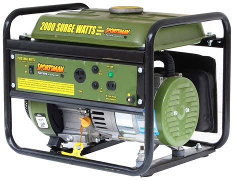 sportsman portable generator gen154 2000 watt gas 2 4 hp