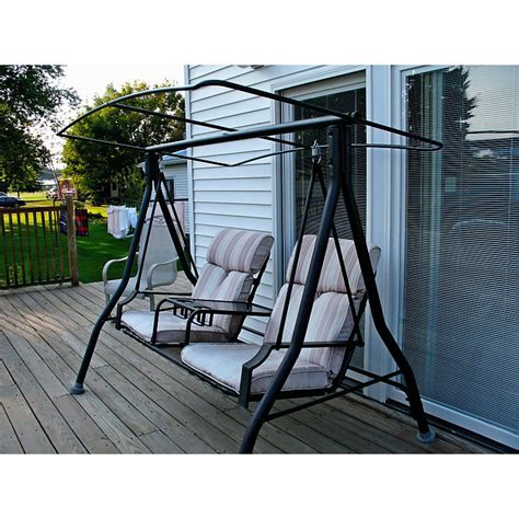 Patio Swing Menards Menards Two Person Charleston Swing Replacement Canopy 271