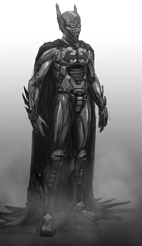 sci fi batman beyond robot scribble by thomaswievegg on