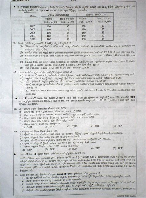 Second Language Sinhala Essays by Naly S Space Common General Test Paper 2011