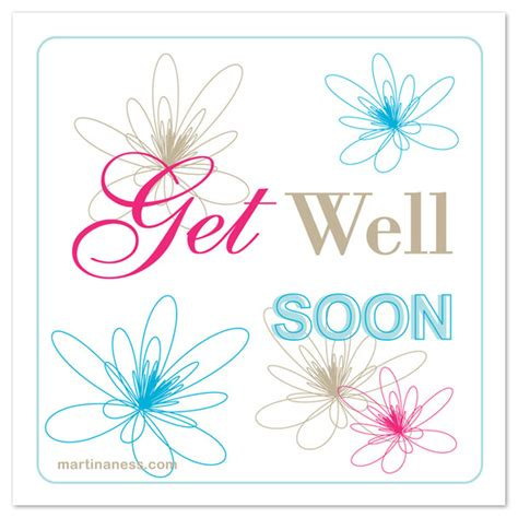Free Template Get Well Card floral get well soon card invitations cards on pingg