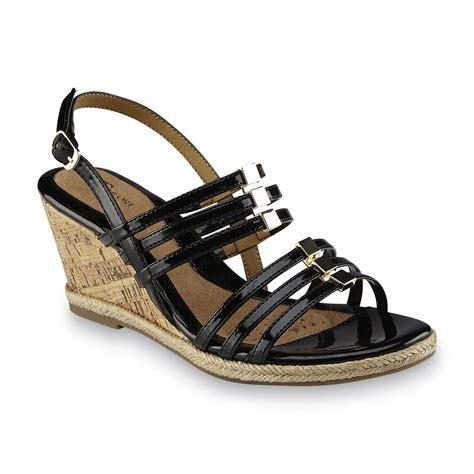 i love comfort sandals i love comfort women s sugar black wedge slingback sandal