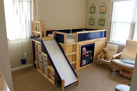 dad transforms ikea bed complete   secret door