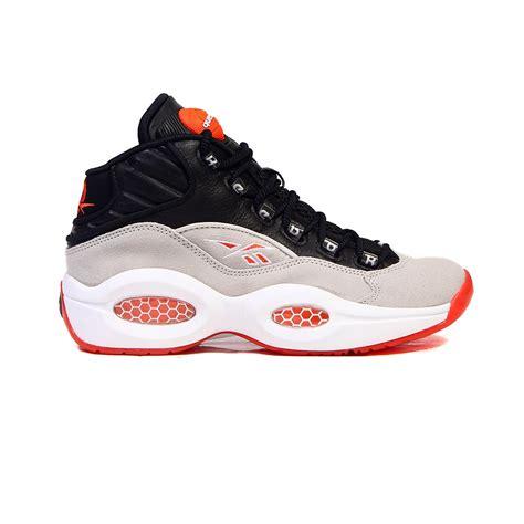 reebok pumps sneakers reebok question black steel white flux orange s