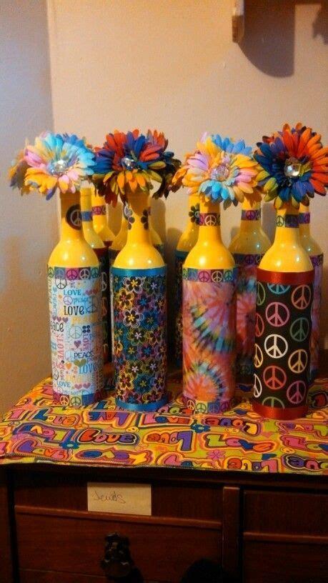 hippie theme decorations best 25 paint wine bottles ideas on painting