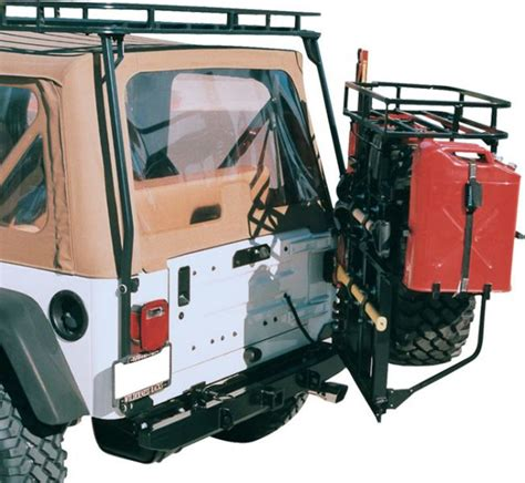 jeep gas can rack jeep bumpers jeep tire carriers jeep towing cargo racks