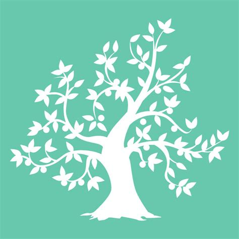 Kaisercraft Stencils Template Tree Tree Stencil Template