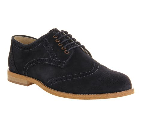 mens ask the missus cardinal brogue lace navy suede formal