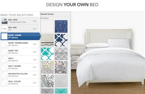 design your own bedding design your own bed with pbteen