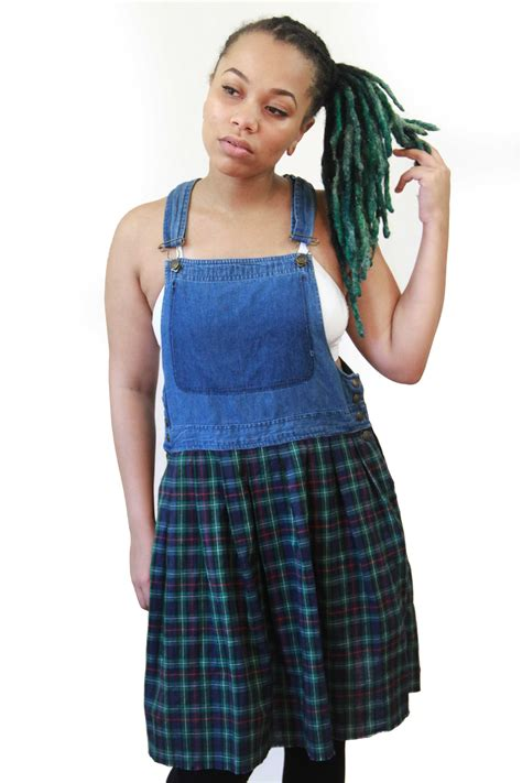 Plaid Dress Size 8t plaid overall dress size small 183 a black 183 store powered by storenvy